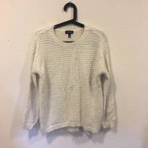 Topshop cream knit sweater